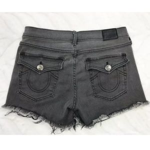 True Religion Shorts Keira Low Rise Gray Size 26